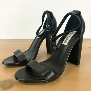 Steve Madden Carrson Black Sandals 6.5M
